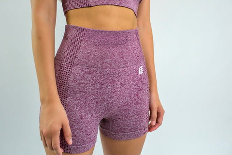 Flex Seamless Shorts|Cherry