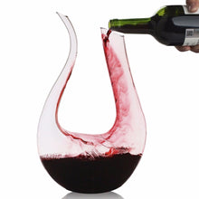 Load image into Gallery viewer, U-shaped 1500ml/0.39gal Classic Red Wine Aerator Decanter 100% Lead-free Crystal Glass.  *** FREE SHIPPING USA/EU/UK/AUS ***