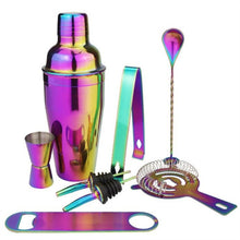 Load image into Gallery viewer, 8Pcs Rainbow Color 750ml or 500ml Stainless Bar Cocktail Shaker & Accessories Barware Set  *** FREE SHIPPING USA/EU/UK/AUS ***