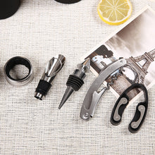 Load image into Gallery viewer, Wine Bar Tools in Wine Bottle Shaped Case - Black 3pcs and Black or Red 5pcs case *** FREE SHIPPING USA/EU/UK/AUS ***