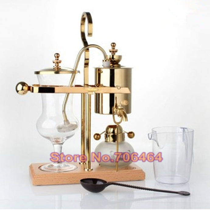 Vienna Gold Belgium Royal Brewer Siphon Coffee Machine Unique Balancing Classic Design Limited Collection *** FREE SHIPPING USA/EU/UK/AUS ***