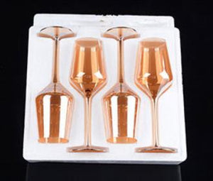 U-shaped Golden 1500ml/0.39gal Red Wine Aerator Decanter With 4x Golden Wine Goblet Glasses 100% Lead Free  *** FREE SHIPPING USA/EU/UK/AUS ***