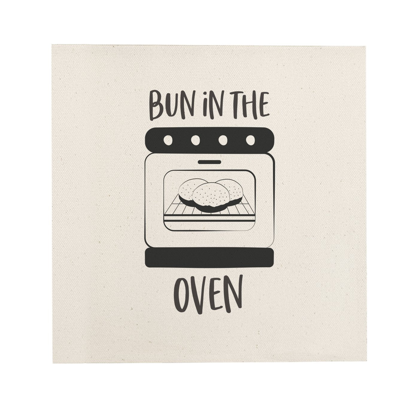 Bun in the Oven Canvas Kitchen Wall Art