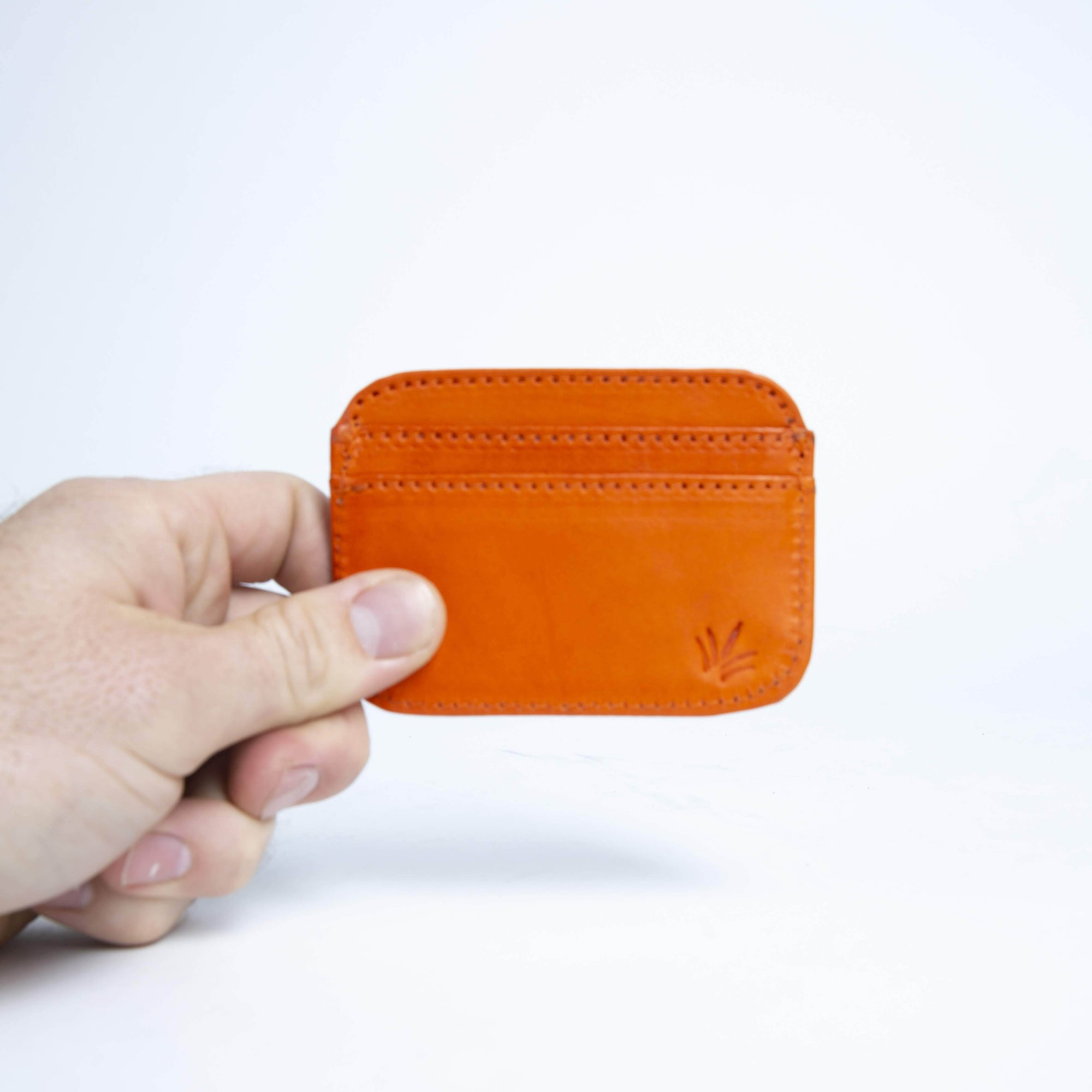 Naranja | Orange Front Pocket Leather Card Wallet