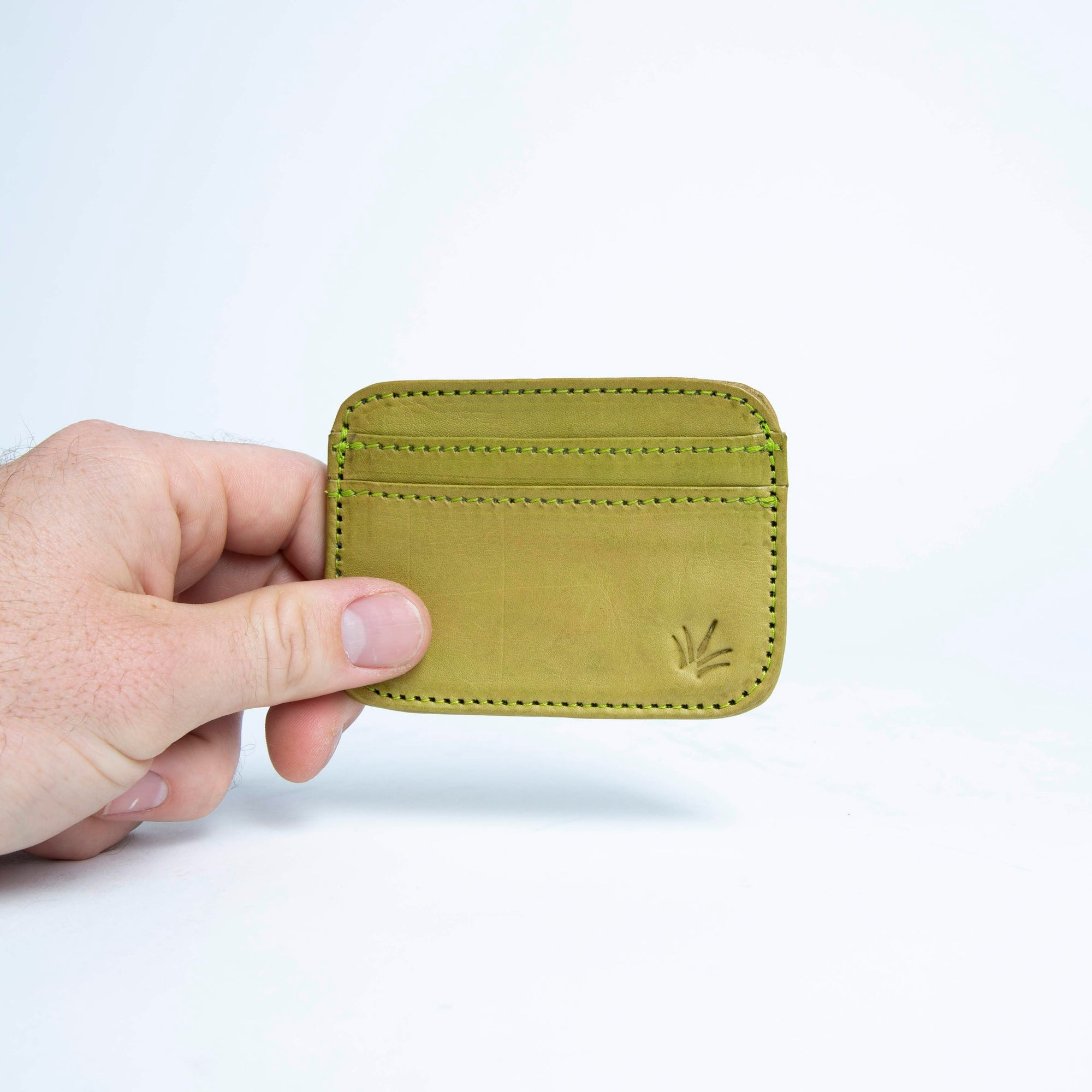 Aguacate | Green Front Pocket Leather Card Wallet