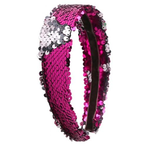 Sequin Headband - Hot Pink