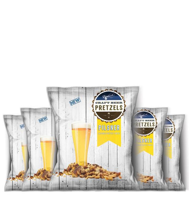 PILSNER SNACK PACK BEER PRETZELS 4OZ (PACK OF 6)