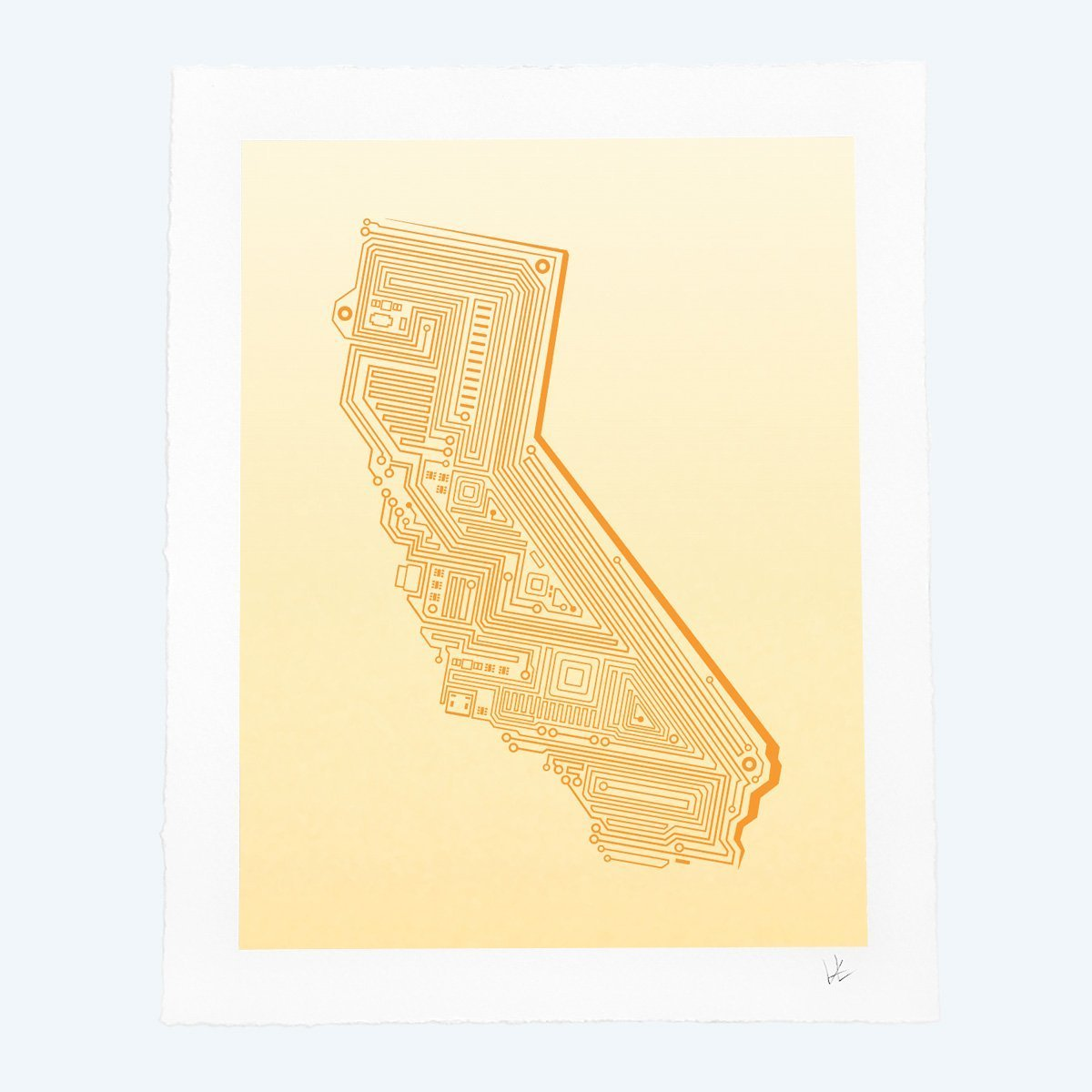 Cali Tech Art Print