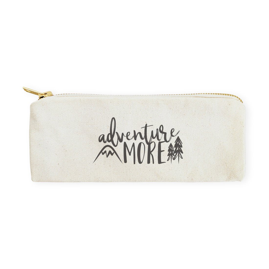 Adventure More Cotton Canvas Pencil Case and Travel Pouch