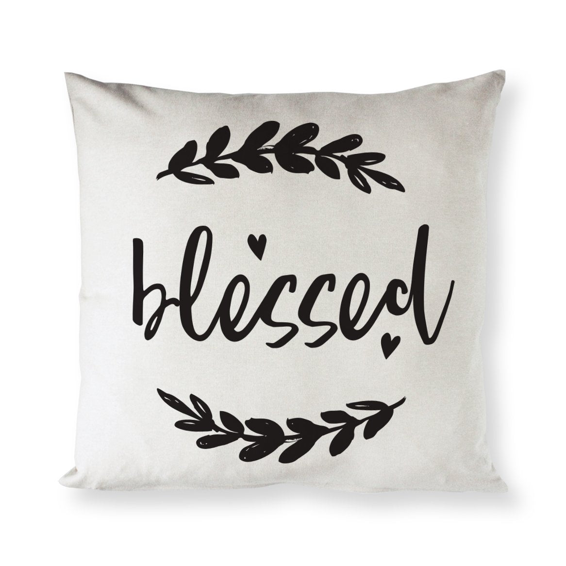 Blessed Cotton Canvas Pillow Cover
