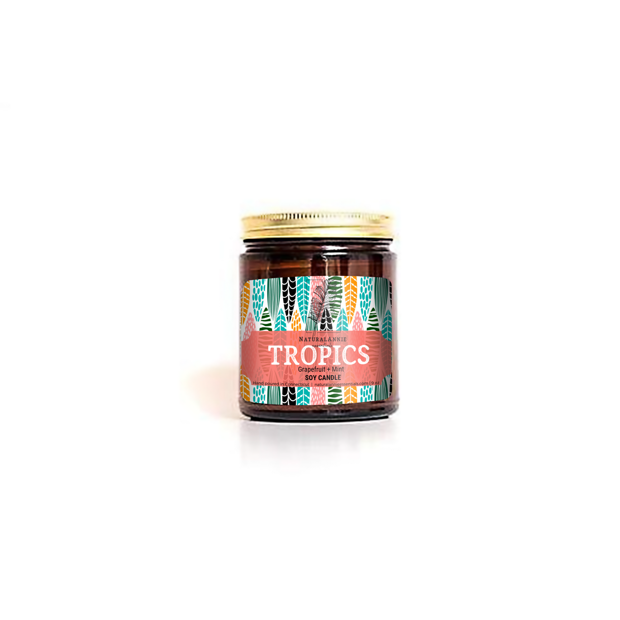 TROPICS: Grapefruit, Rhubarb, & Mint Scented Soy Candle