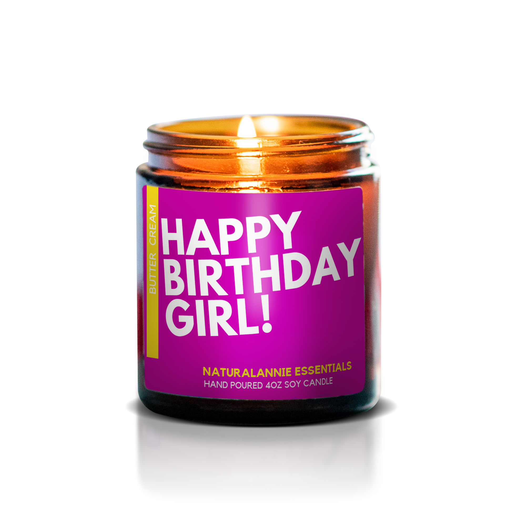 HAPPY BIRTHDAY GIRL! Butter and Cream Scented Soy Candle