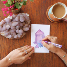 Load image into Gallery viewer, Amethyst Greeting Card