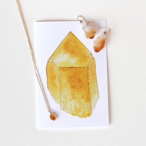 Citrine Greeting Card