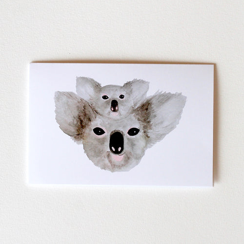 Mama and Baby Koala Greeting Card-100% For Charity
