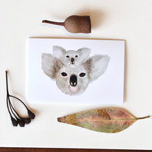 Load image into Gallery viewer, Mama and Baby Koala Greeting Card-100% For Charity