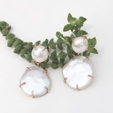 Load image into Gallery viewer, Double Drop Gemstone Earrings