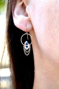 Herkimer Diamond Drape Earrings