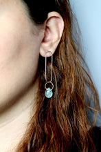Load image into Gallery viewer, Fluorite Ellipse Earrings