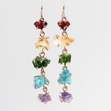 Load image into Gallery viewer, Rainbow Waterfall Earrings