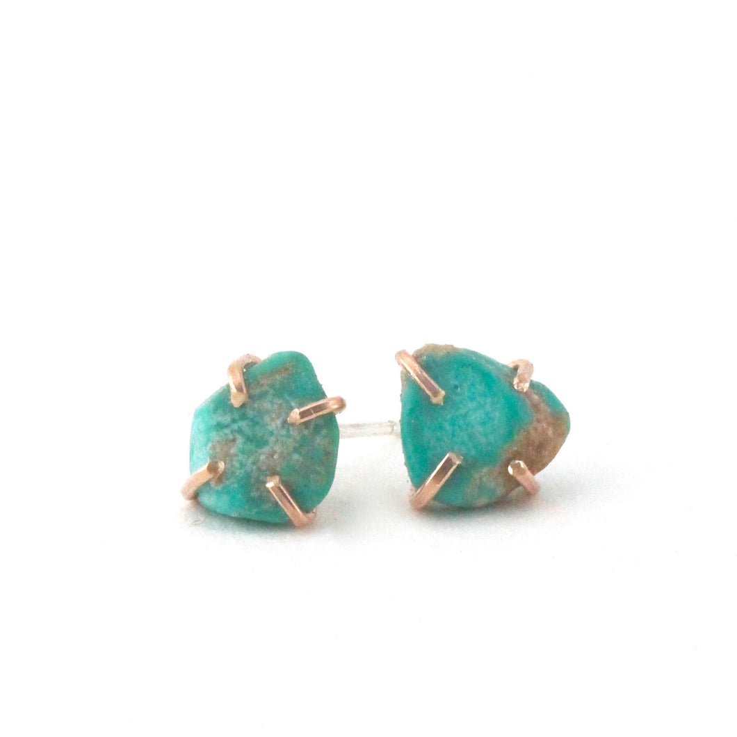 Raw Turquoise Studs