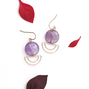 Amethyst Orbit Earrings