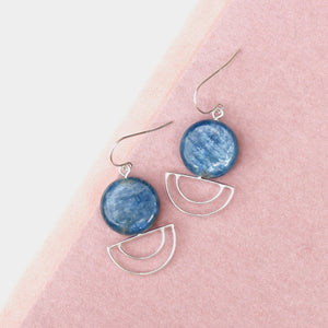 Kyanite Orbit Earrings
