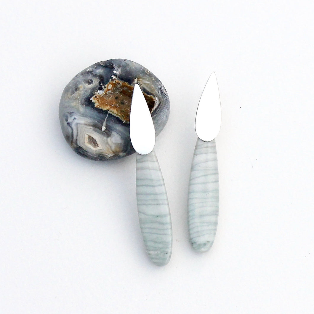 Wave Jasper Sconce Earrings