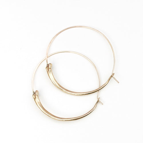 Snake Bone Hoop Earrings
