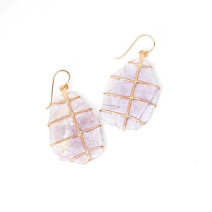 Lepidolite Prong Earrings