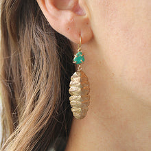 Load image into Gallery viewer, Chiton Earrings with Raw Turquoise