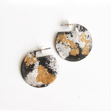 Load image into Gallery viewer, Mixed Metal Disc Earrings