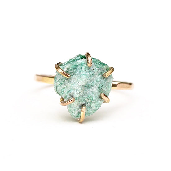 Raw Fuchsite Stacker Ring