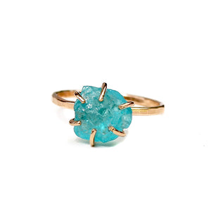 Raw Apatite Stacker Ring