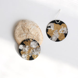Mixed Metal Coin Earrings