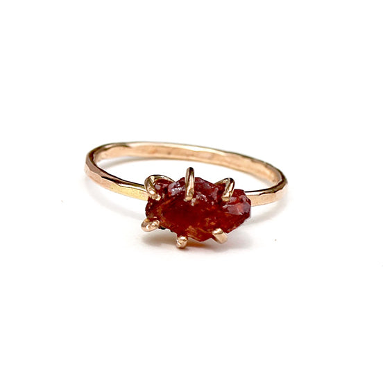 Raw Garnet Stacker Ring
