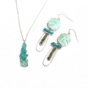 Chrysoprase Deco Earrings