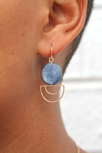Load image into Gallery viewer, Kyanite Orbit Earrings