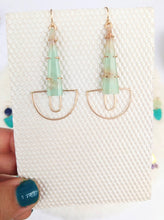 Load image into Gallery viewer, One of a Kind Chrysoprase Earrings