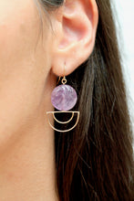 Load image into Gallery viewer, Amethyst Orbit Earrings