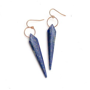 Lapis Lazuli Dagger Earrings
