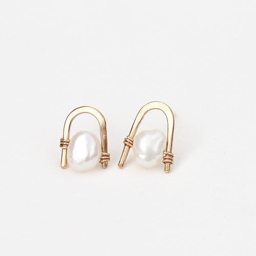 Freshwater Pearl Staple Studs