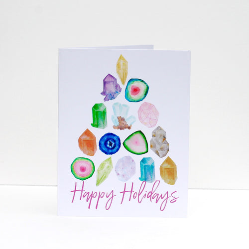 Gemstone Tree Holiday Greeting Card