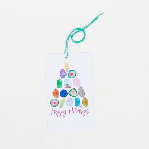 Gemstone Tree Holiday Gift Tags