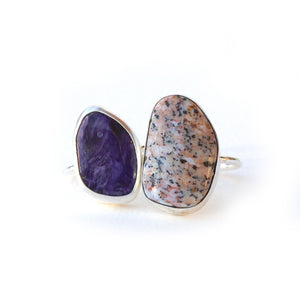 Opalized Wood Bezel Ring