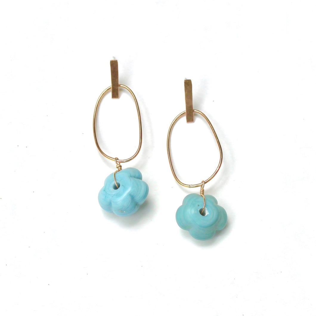 Mod Bar Loop Earrings