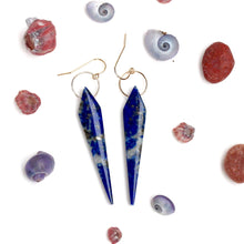 Load image into Gallery viewer, Lapis Lazuli Dagger Earrings