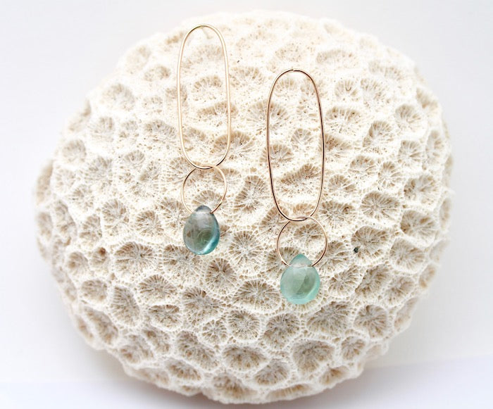Fluorite Ellipse Earrings