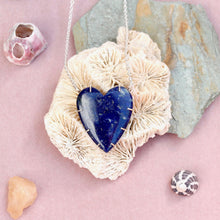 Load image into Gallery viewer, Lapis Lazuli Heart Necklace
