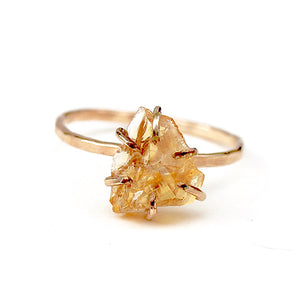Raw Citrine Stacker Ring